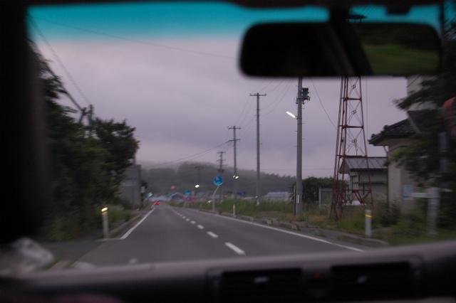 明け方に通った飯舘村